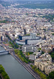 River Seine with the height. Royalty Free Stock Image