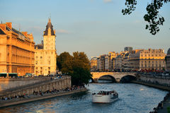 River Seine Royalty Free Stock Photography