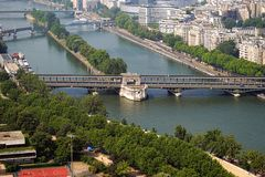 The river Seine and its bridges. royalty free stock photos