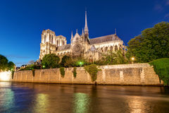 River Seine and Notre Dame Royalty Free Stock Photo