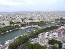 River Seine, Paris. River Seine seen from the Eiffel Tower Stock Photos
