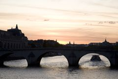 River Seine, Paris. River Seine in Paris in France, Europe Stock Photography