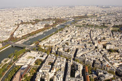 The river Seine through Paris Royalty Free Stock Images
