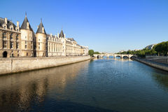 River Seine in Paris Royalty Free Stock Images