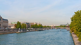 River Seine in Paris Stock Photography