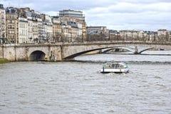River Seine in Paris Royalty Free Stock Photos