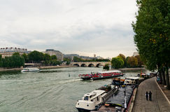 River seine in paris Stock Images