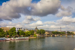 River Seine in Paris France Stock Photography