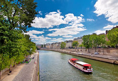 The river Seine Royalty Free Stock Photo