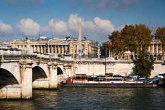 River Seine in Paris, France. Royalty Free Stock Images