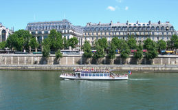 The river Seine in Paris, France Stock Photos