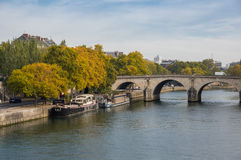 The river Seine in Paris Stock Image