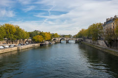 The river Seine in Paris Stock Photography