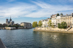 The river Seine in Paris Royalty Free Stock Images