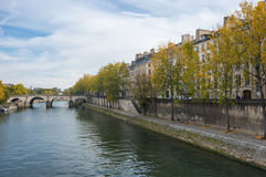 The river Seine in Paris Royalty Free Stock Photo