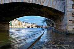 River Seine at Paris Stock Images