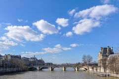 The river Seine in Paris Royalty Free Stock Photography