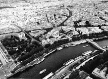 River Seine and Paris Stock Image