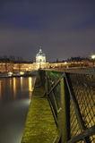The River Seine and shining lights, Paris Stock Photography