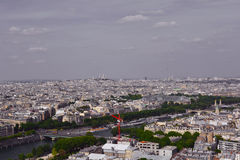 River Seine and view at the city centre from Eiffel Tower, Paris,  France Royalty Free Stock Photography