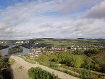 River Seine views from Gaillard Castle, France Royalty Free Stock Image