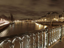 River Seine in winter stock photo