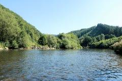The river Semois, Belgian Ardennes. The Semois river near Poupehan, Belgian Ardennes royalty free stock photo