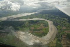 River Seven meandering. Royalty Free Stock Photo