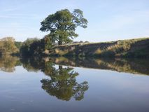 River Severn reflection stock photography