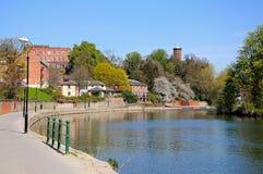 River Severn View, Shrewsbury. Stock Photo