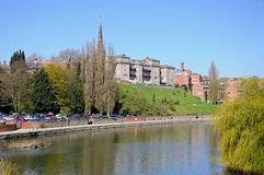 River Severn View, Shrewsbury. Royalty Free Stock Photos
