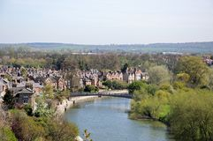 River Severn view, Shrewsbury. Royalty Free Stock Photos