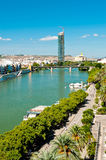 River in Seville Stock Image