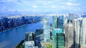 Shanghai. River in shanghai stock image