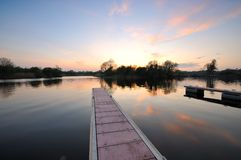 River Shannon. Sunset on the Shannon at Rooskey, Co.Roscommon, Ireland Stock Photo