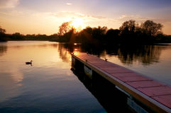 River Shannon. Sunset on the Shannon at Rooskey, Co.Roscommon, Ireland Royalty Free Stock Photography