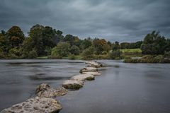 River Shannon at Castleconnell 8-10-2018. Castleconnell Irish: Caisleán Uí gConaing is a scenic village in County Limerick on the banks of the River royalty free stock image