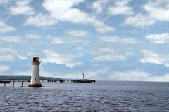 River shannon lighthouse Stock Images