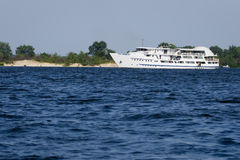 River ship. Passenger ship on Dniper river Royalty Free Stock Images