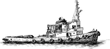 River ship Stock Images