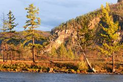 River Shishged in northern Mongolia. Stock Image