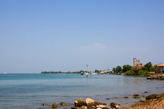 River shore in italy Royalty Free Stock Image