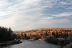 River in the Siberian taiga Stock Photo