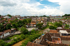 River side homes in Yogyakarta, Indonesia Stock Photos