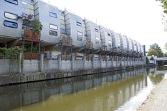 River side houses Stock Photo