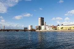 River side of Recife. Skyline of Recife, one of the host cities of FIFA World Cup 2014 royalty free stock photos