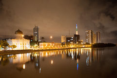 River side of Recife by night Royalty Free Stock Photography