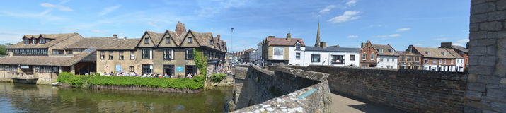 The river side at St Ives Cambridgeshire. Stock Photos