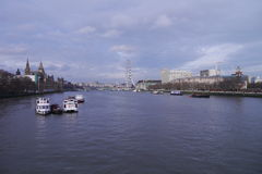The River Thames in London, England Stock Image