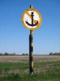 The river sign. Will lock to stand on an anchor Royalty Free Stock Image